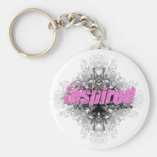 Be Inspired Pink Keychain