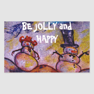 Be Jolly and Happy Rectangular Sticker