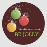 Be Jolly Christmas Ornament Holiday Sticker