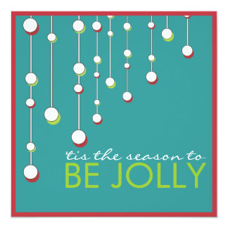 Be Jolly Modern Decoration Christmas Party 13 Cm X 13 Cm Square Invitation Card