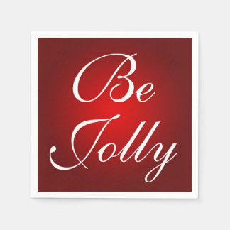 Be Jolly Red White Christmas Colors Holiday Design Paper Serviettes