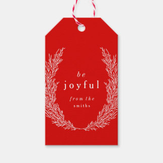 Be Joyful Modern Botanics Gift Tag