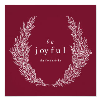 Be Joyful Modern Botanics Holiday Card