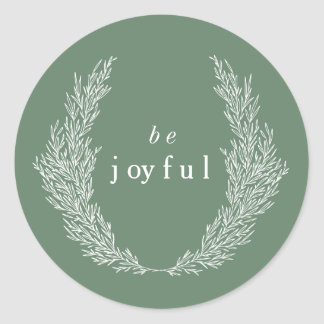 Be Joyful Modern Botanics Sticker
