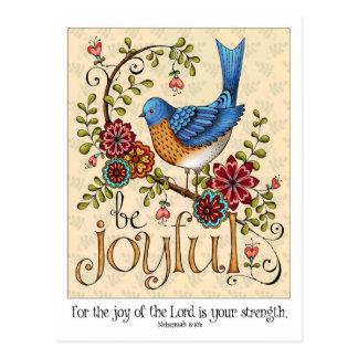 Be Joyful - Postcard