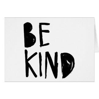 Be Kind | Black Brush Script Style Greeting Card