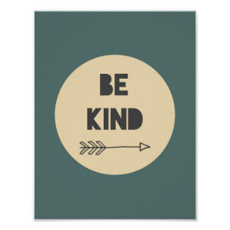 Be Kind Inspirational Art - Nursery Art Poster