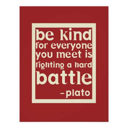 Be Kind Inspirational Words Poster - Red