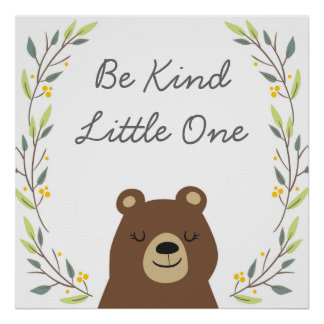 Be Kind - Nursery Art Decor Poster