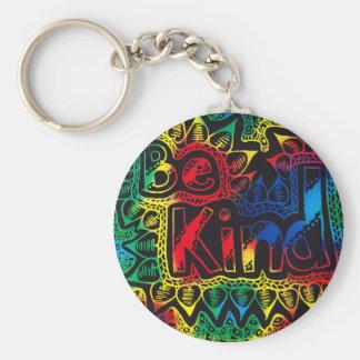 be kind rainbow key ring