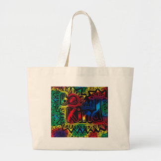 be kind rainbow large tote bag