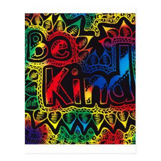 Be kind rainbow Postcard