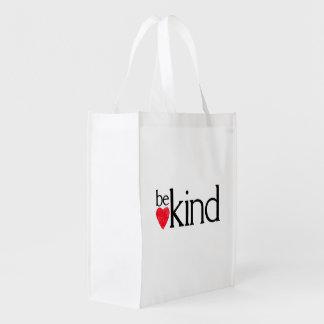 Be kind reusable grocery bag