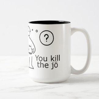 be kind, rewind Two-Tone coffee mug