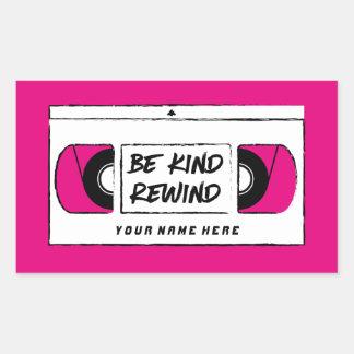 Be Kind Rewind Video Cassette Tape Retro Stickers
