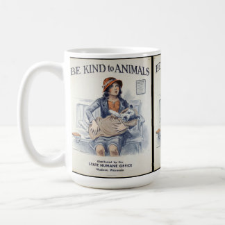 Be Kind to Animals - Vintage Poster Coffee Mug
