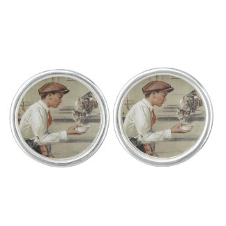 Be Kind to Animals - Vintage Poster Cufflinks