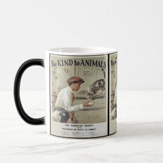 Be Kind to Animals - Vintage Poster Magic Mug