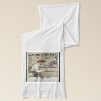 Be Kind to Animals - Vintage Poster Scarf