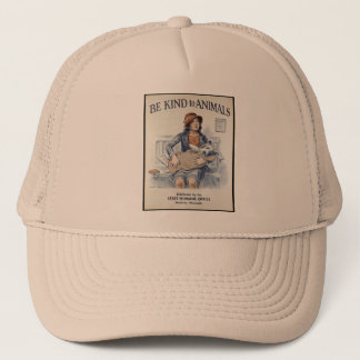 Be Kind to Animals - Vintage Poster Trucker Hat