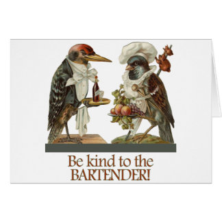Be Kind to the Bartender Card