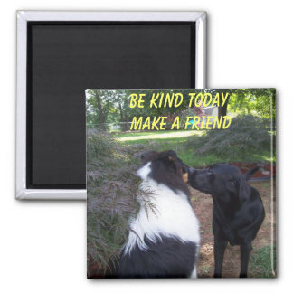 BE KIND TODAY, MAKE A FRIEND SQUARE MAGNET