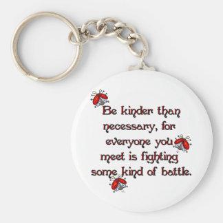 Be Kinder Basic Round Button Key Ring