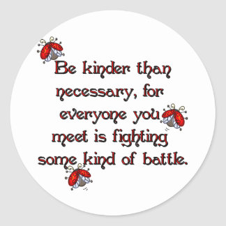 Be Kinder Classic Round Sticker