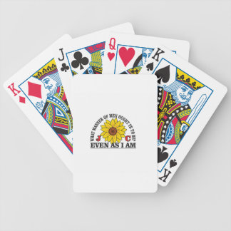 be like christ arch bicycle playing cards