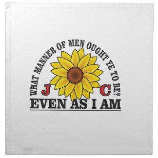 be like christ arch napkin