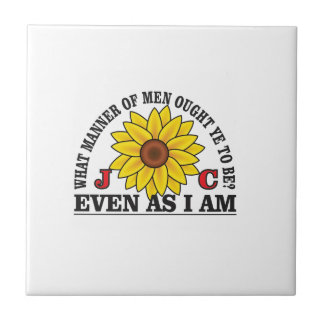 be like christ arch small square tile