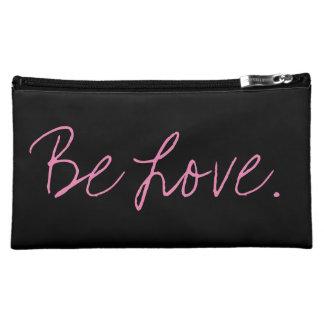 Be Love. Black Cosmetics Bag