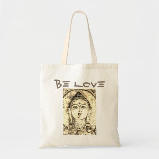Be Love Buddha Watercolor Art Tote