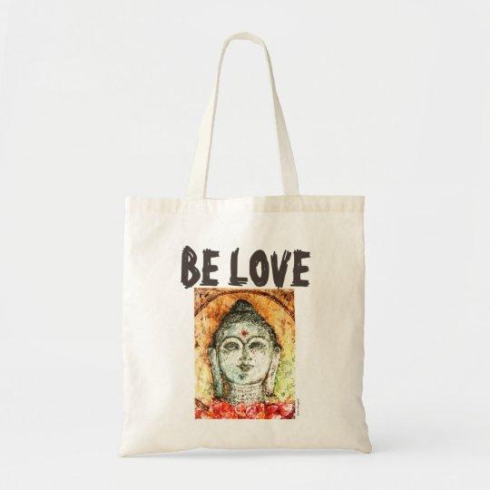 Be Love Buddha Watercolor Art Tote