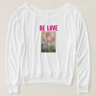 Be Love Lotus Watercolor Long Sleeve Shirt