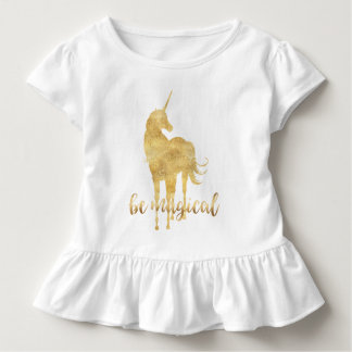 Be Magical Gold Unicorn Toddler T-Shirt