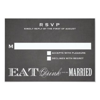 BE MARRIED CHALKBOARD | RSVP 3.5 x 5 9 Cm X 13 Cm Invitation Card
