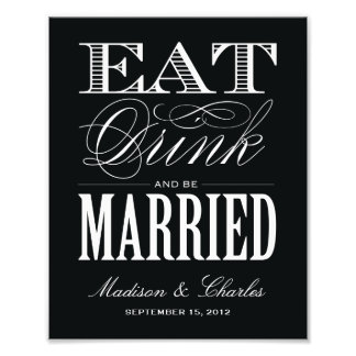 & BE MARRIED | RECEPTION PRINT PHOTO PRINT