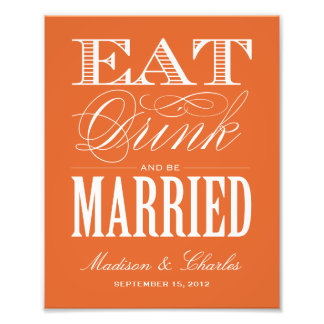 BE MARRIED RECEPTION PRINT ART PHOTO
