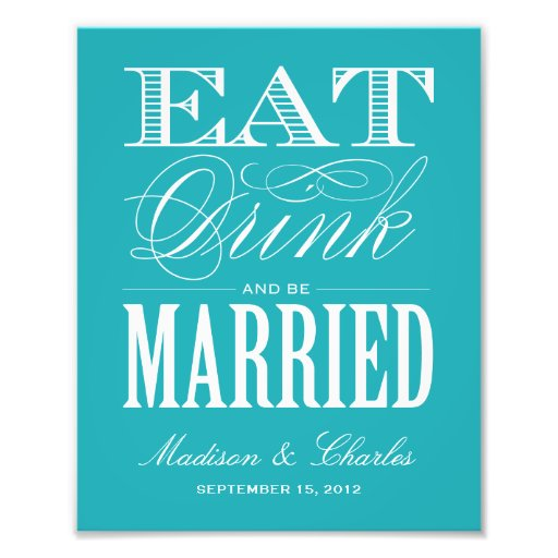 & BE MARRIED | RECEPTION PRINT ART PHOTO