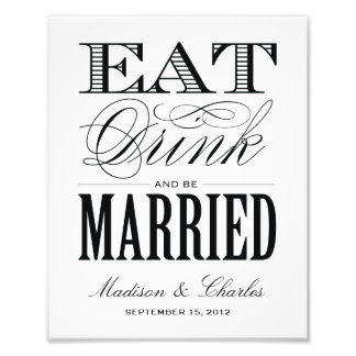 BE MARRIED RECEPTION PRINT PHOTOGRAPHIC PRINT