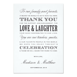 Be Married | Reception Thank You Cards 13 Cm X 18 Cm Invitation Card