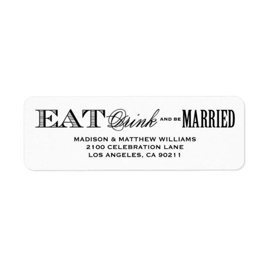 Be Married | Return Address Label
