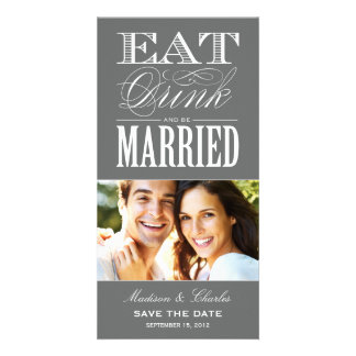 & BE MARRIED   SAVE THE DATE ANNOUNCEMENT CUSTOM PHOTO CARD