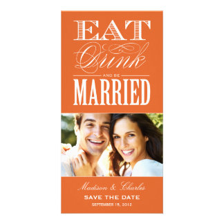 & BE MARRIED   SAVE THE DATE ANNOUNCEMENT PICTURE CARD