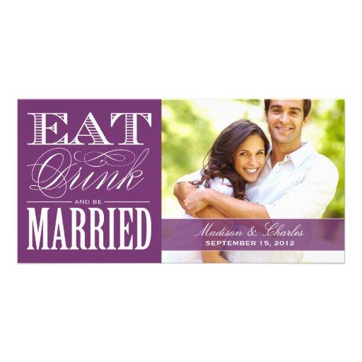 & BE MARRIED | SAVE THE DATE ANNOUNCEMENT PERSONALIZED PHOTO CARD