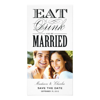 & BE MARRIED | SAVE THE DATE ANNOUNCEMENT PICTURE CARD