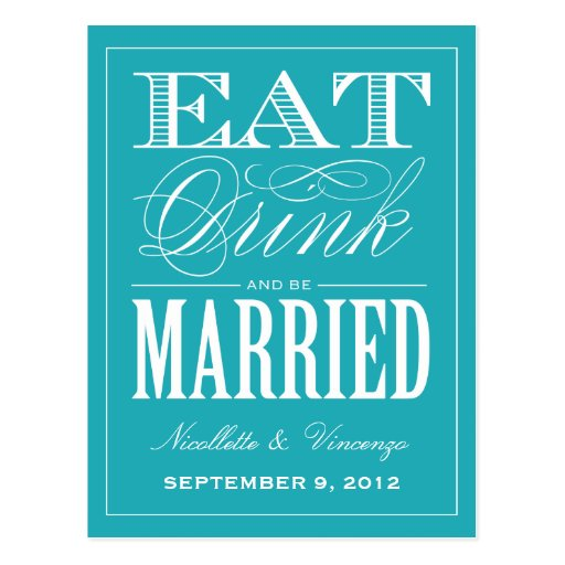 BE MARRIED | SAVE THE DATE ANNOUNCEMENT POSTCARDS