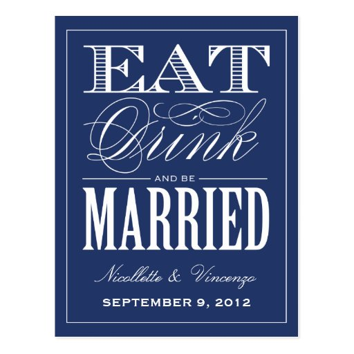 BE MARRIED | SAVE THE DATE ANNOUNCEMENT POST CARDS