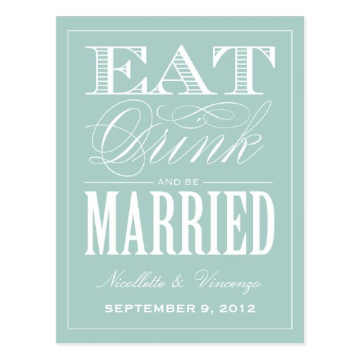 BE MARRIED   SAVE THE DATE ANNOUNCEMENT POSTCARDS